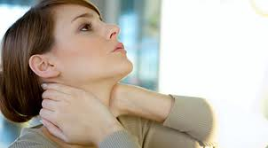 Neck pain is usually constant with a stiff neck or torticollis