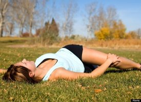 "The ""T stretch"" Exercise to lower back pain"